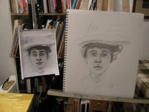 cours-portrait-de-Yanie-cours-de-dessin-linda-Boyte